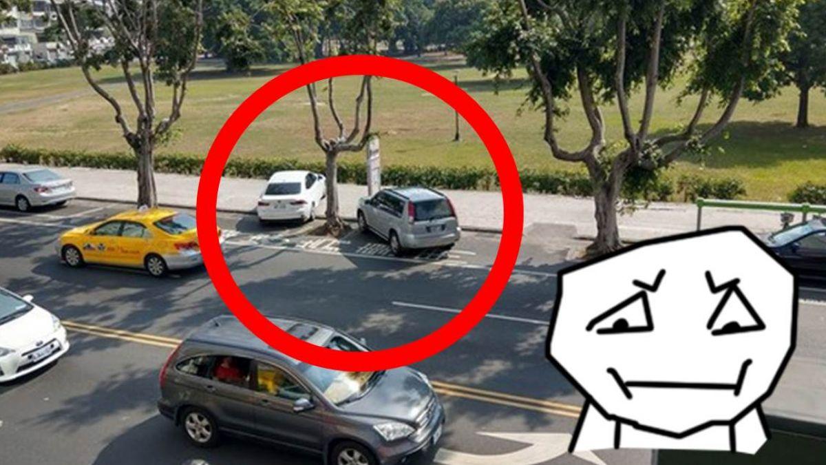 超扯!這2輛車停到人行道上 內行人秒答「魚肚湯害的」