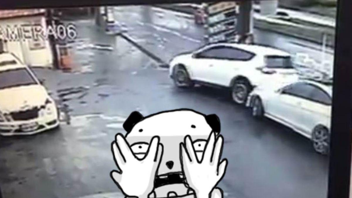 【影片】有練過!休旅車打滑U字甩尾…飄移走位超神 網友全跪了