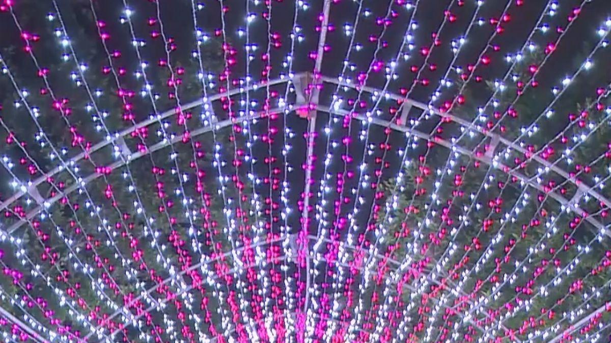 淡水新祕境 燈海隧道耀眼動人