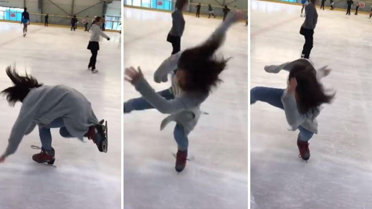 櫻花妹「旋風亂舞」首溜冰慘摔!超狂10秒吸千萬觀看