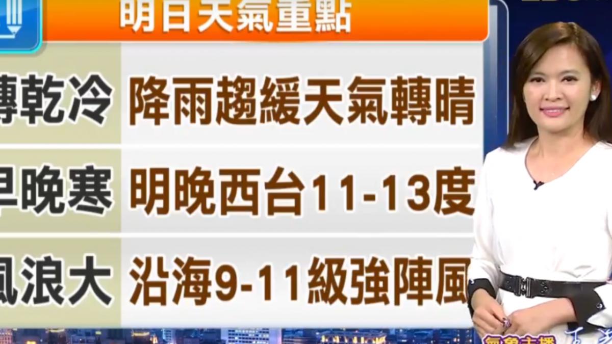 【2017/12/19】明冷氣團接力 轉乾冷 影響到周六清晨