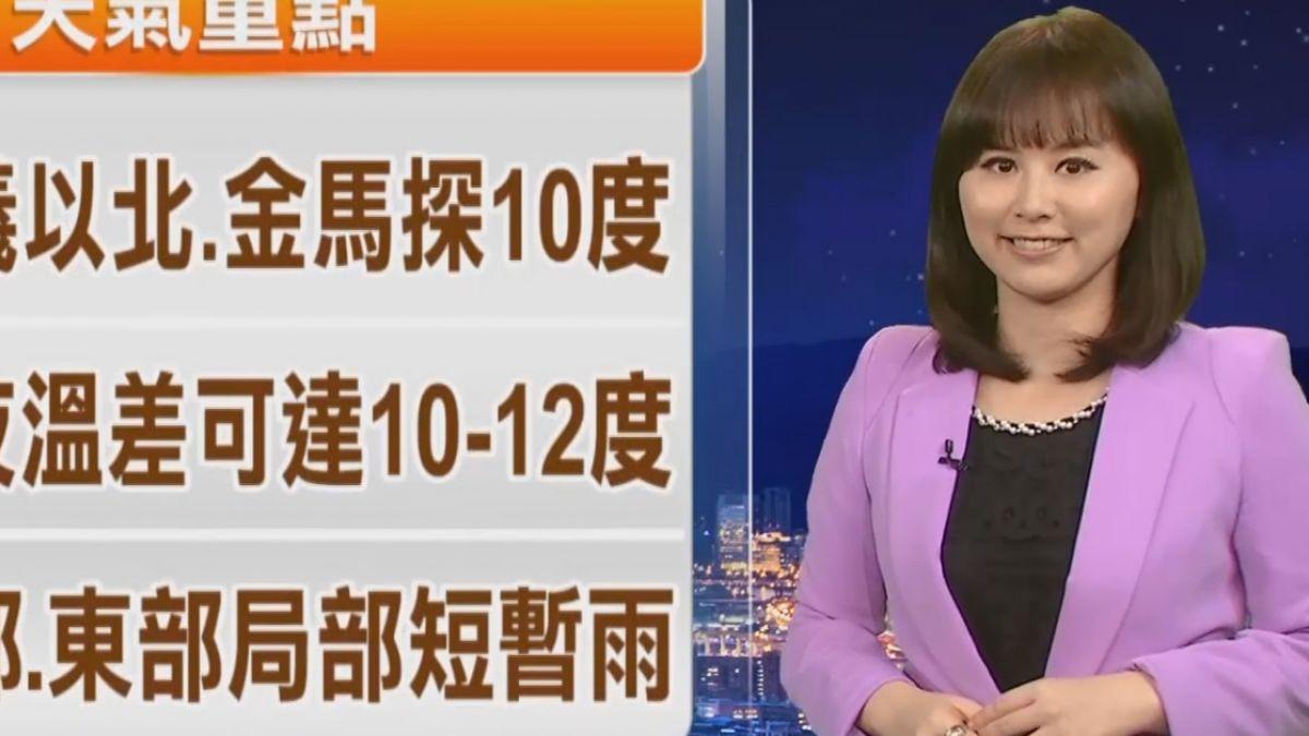 【2017/12/21】強冷氣團冷到明周五清晨 周六回暖