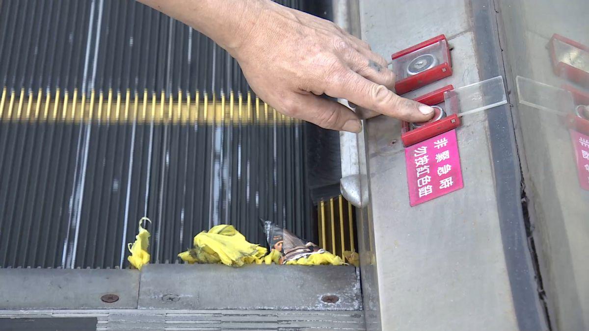 手扶梯「梳齒板」設計 鋸齒、斜度設計排除異物