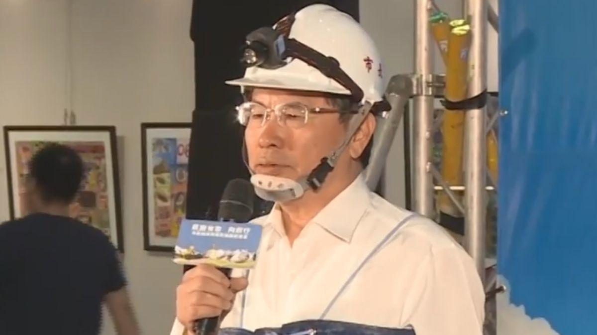 涂醒哲施政三周年感恩記者會 穿青蛙裝突顯政績