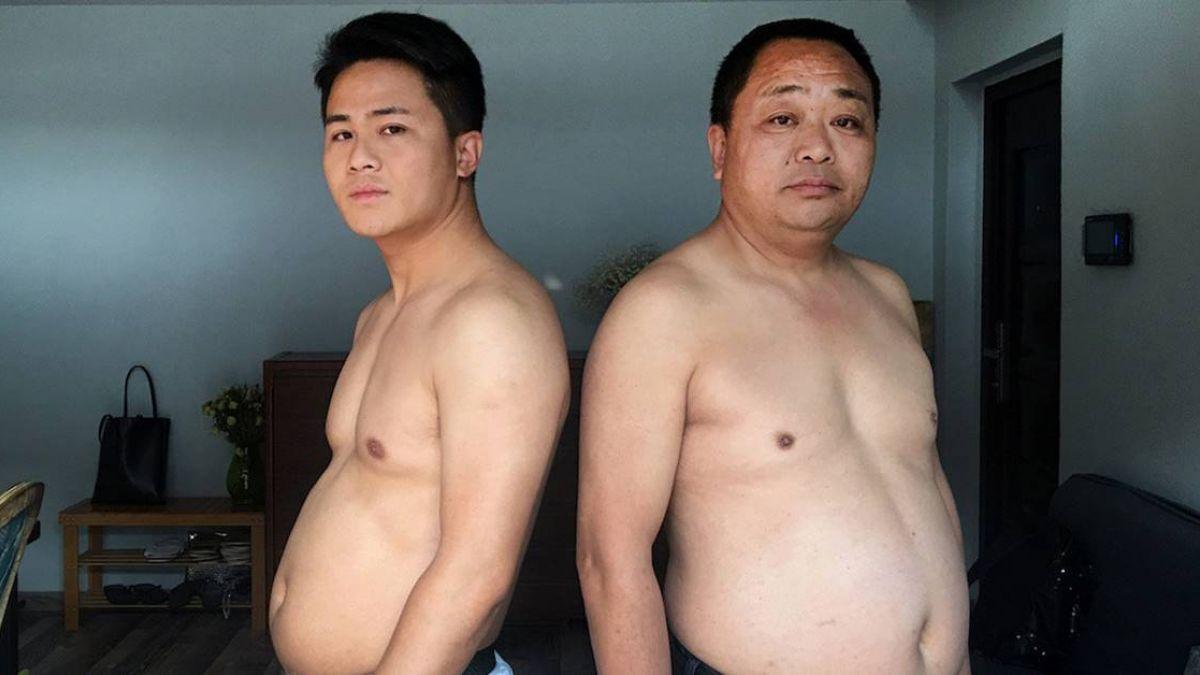 增胖10公斤再拉爸爸減肥…父子練出6塊肌!背後原因惹淚崩