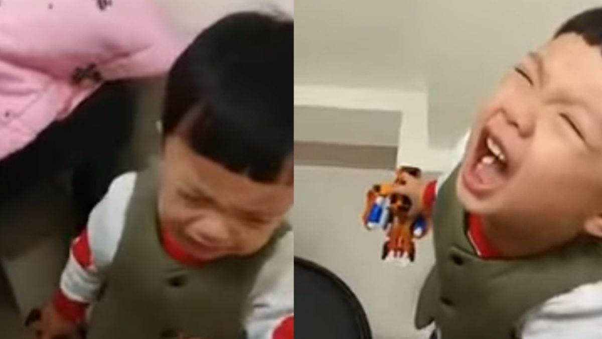 【影片】笑翻!滿月妹打預防針 3歲小哥哥下跪哭喊「不要打妹妹」