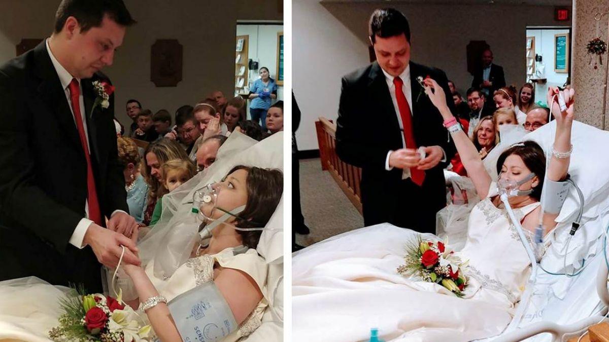 「我願意!」癌末新娘興奮結婚 18小時後卻含笑而終