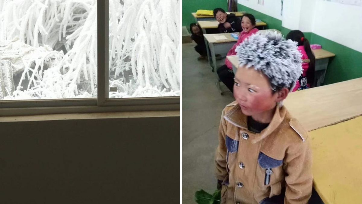 零下9度走5公里…男孩滿頭冰霜上課 同學笑翻網卻心疼
