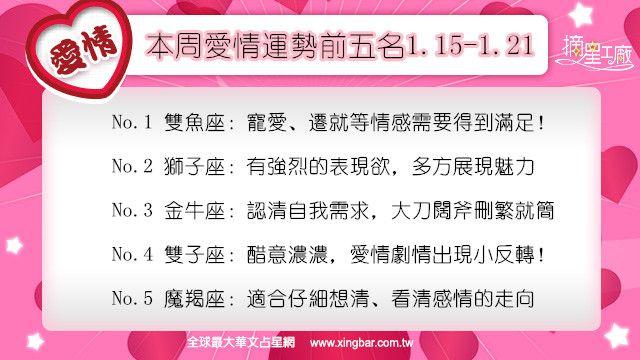 12星座本周愛情吉日吉時(1.15-1.21)