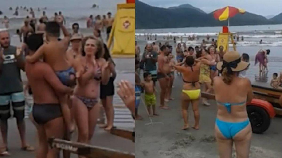 【影片】男童沙灘走失…遊客連續鼓掌10分鐘 母感動抱回走失兒