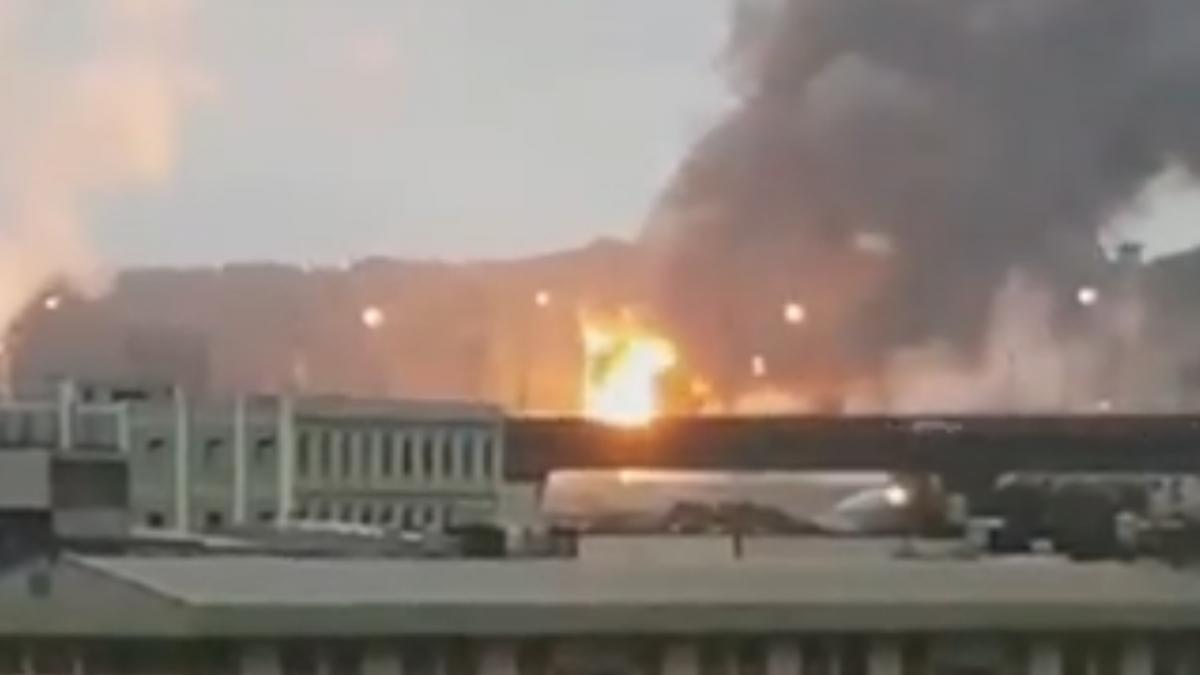 桃中油戶外油槽爆炸 民眾被驚醒:像墜機