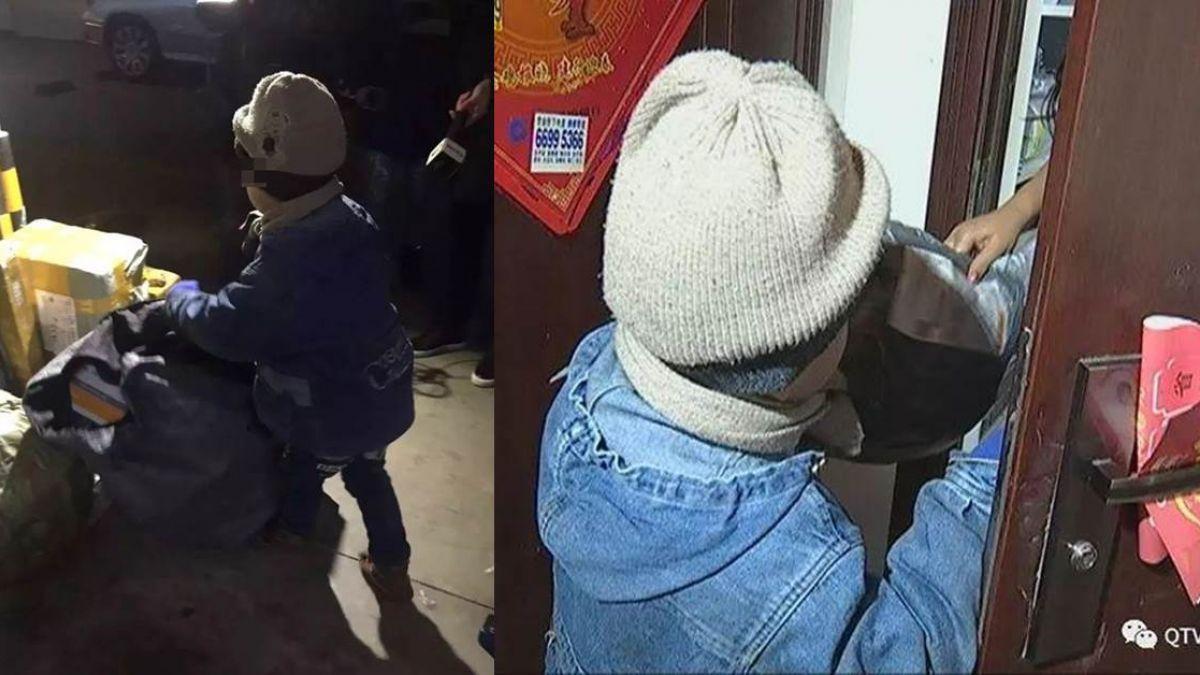 頂寒風送快遞…6歲童沒上學 悲涼身世惹鼻酸