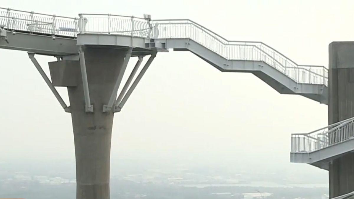 崗山之眼天空迴廊完工 十四日正式開幕