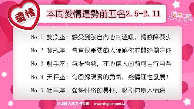 12星座本周愛情吉日吉時(2.5-2.11)