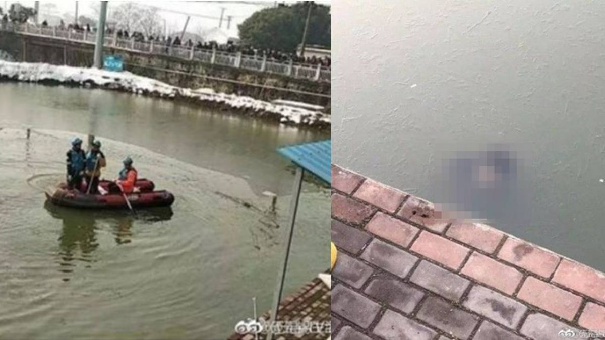 水面下驚見頭顱!男女疑練車墜池…慘遭冰封河底