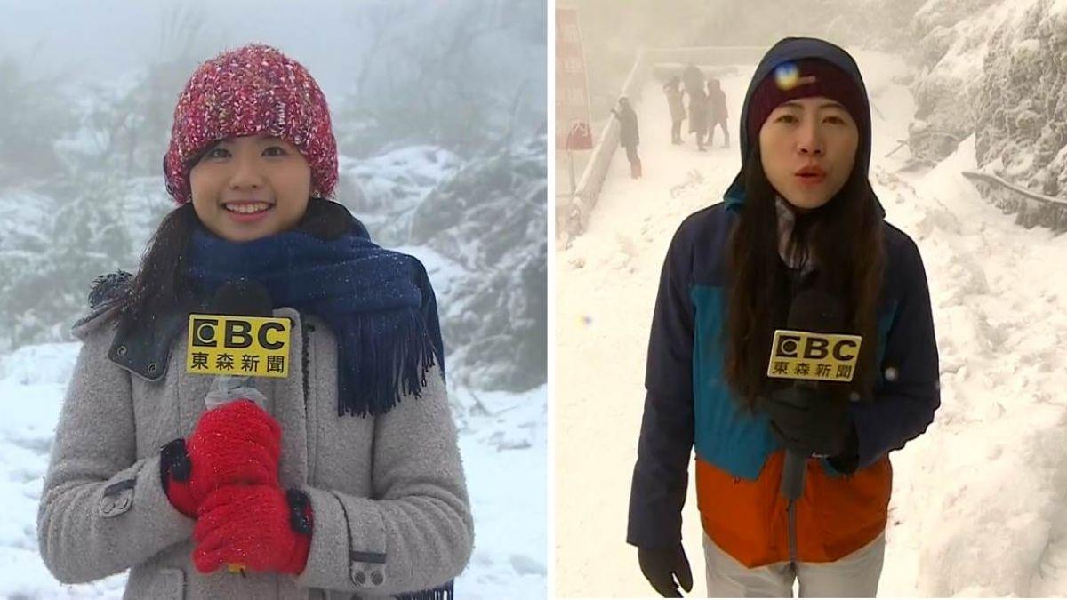 不畏風雪!東森新聞追雪連線 強忍不適拼最新播報