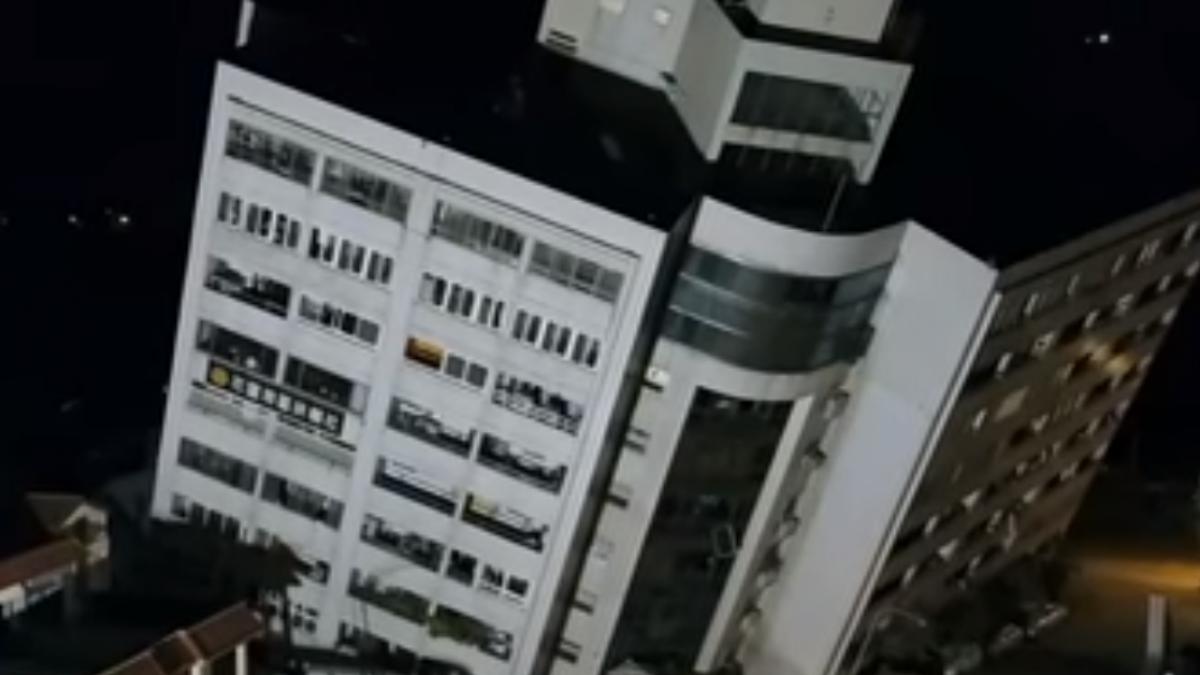 獨家!雲翠大樓空拍直擊 建築物傾斜已逾45度