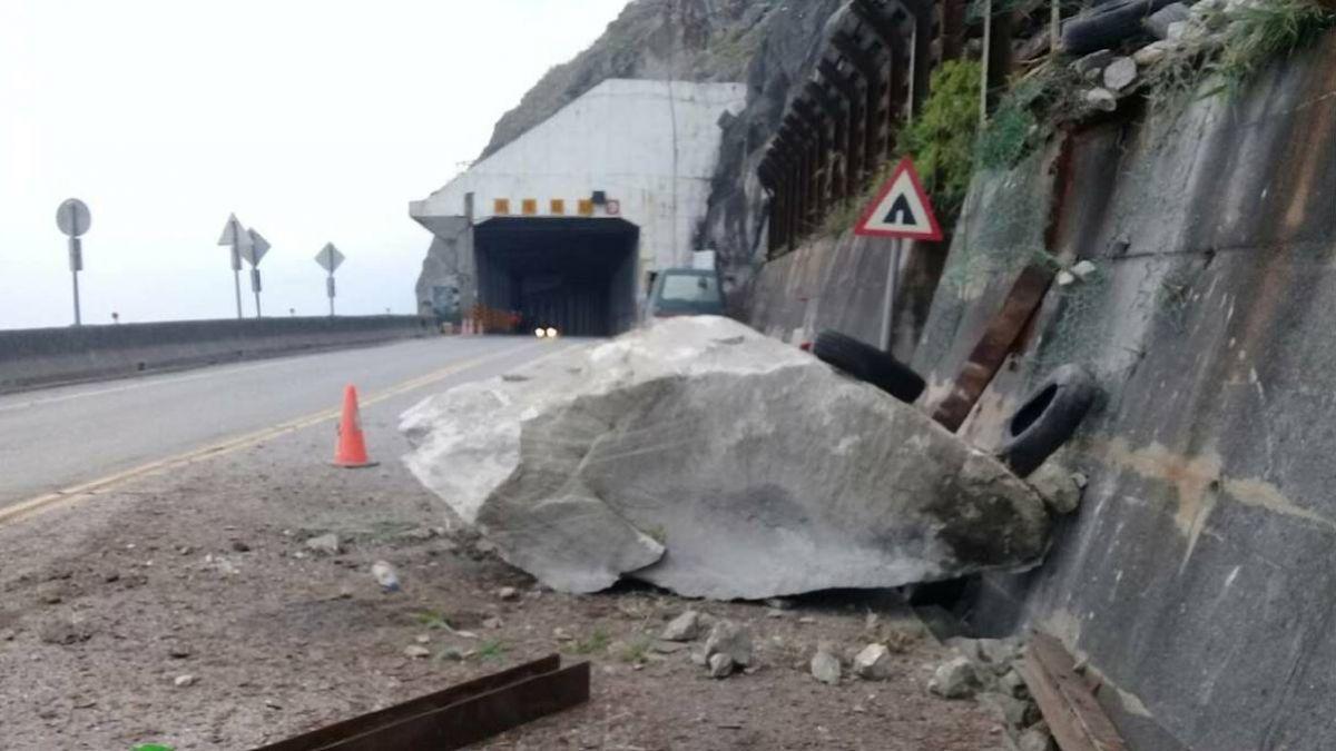 地震後原蘇花坍方多 大客貨車仍不能走蘇花改