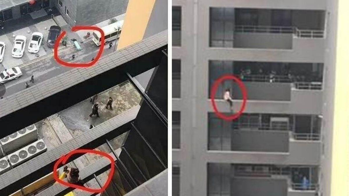 妙齡女爬8樓欲輕生 男對面看熱鬧…失足墜地腦漿爆裂亡!