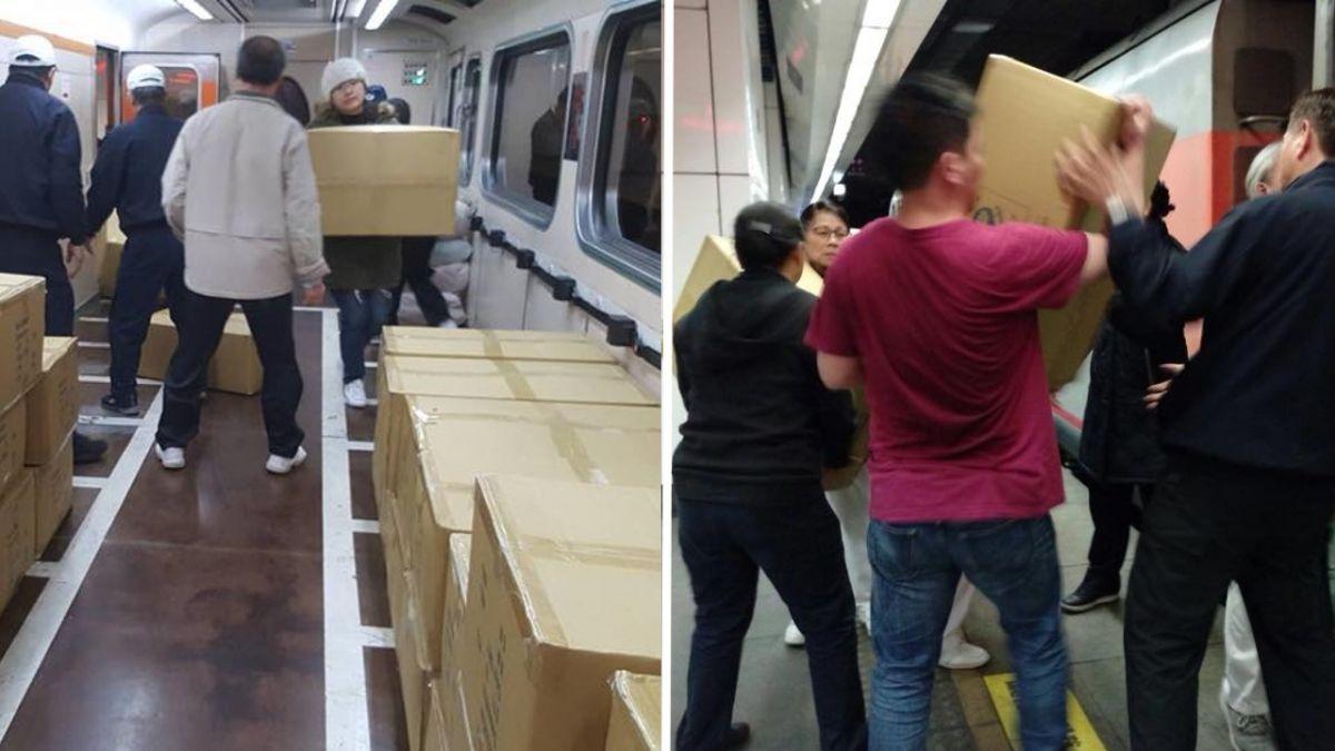 最美風景!賑災物資搭火車送花蓮 超暖旅客、列車長自發搬上車