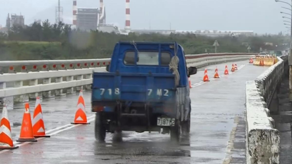 花蓮大橋一度封閉 重啟「單側雙向通行」
