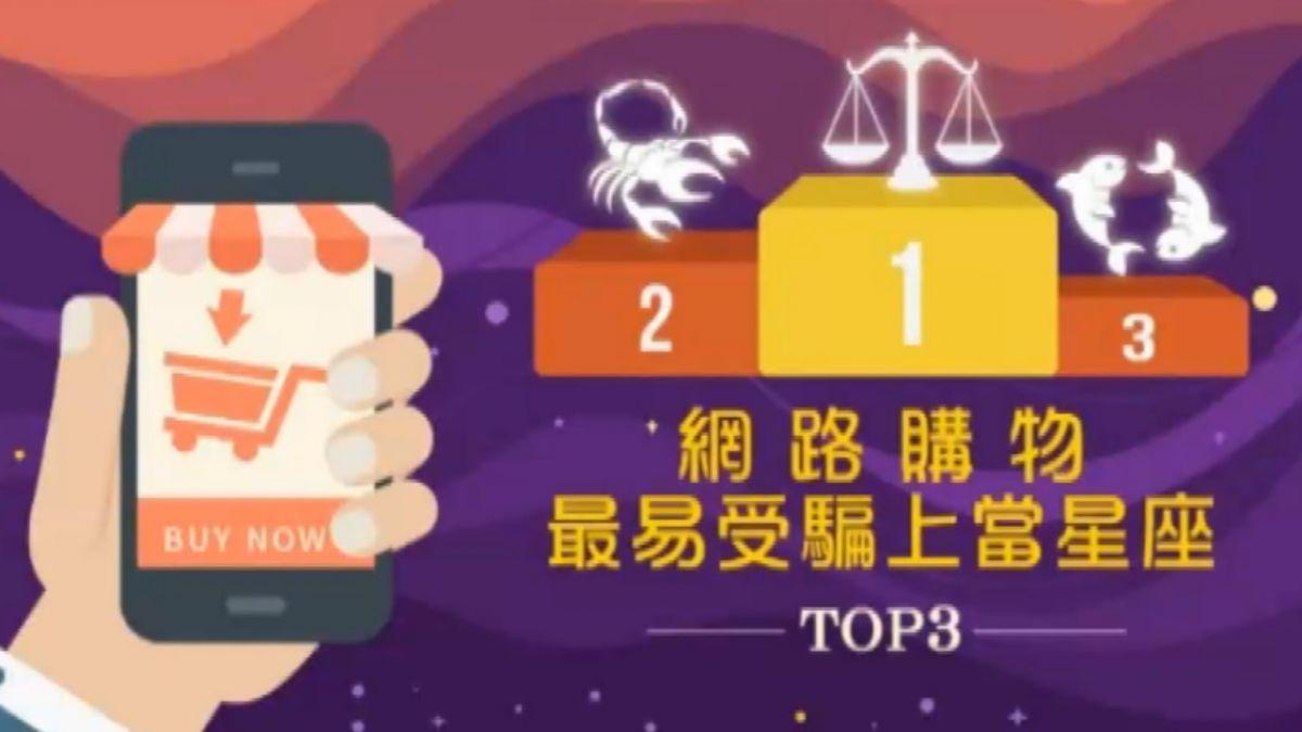 106年網購最易受騙星座 天秤、天蠍、雙魚男上榜