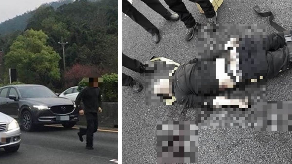 通緝犯躲警逃上國道!遭拖行500公尺撞飛 七孔流血死