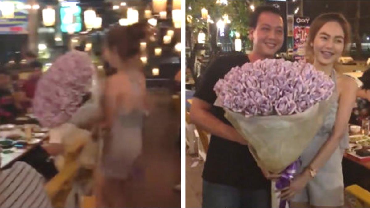 男友生日…20歲女大生豪送9萬「鈔票花」!他收到笑開懷
