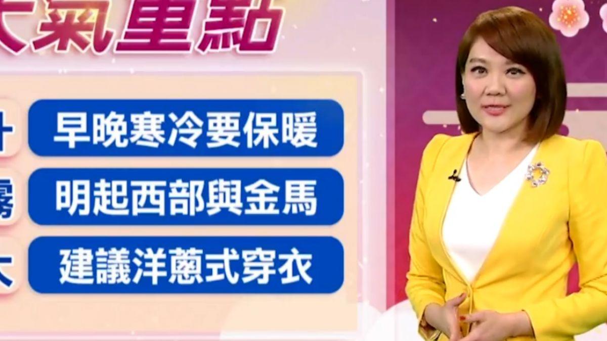 【2018/02/13】低溫特報 入夜後台南以北有機會10度