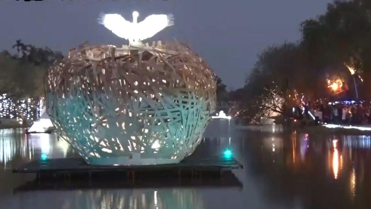 月津港燈節開幕沒幾天 藝品遭破壞折斷