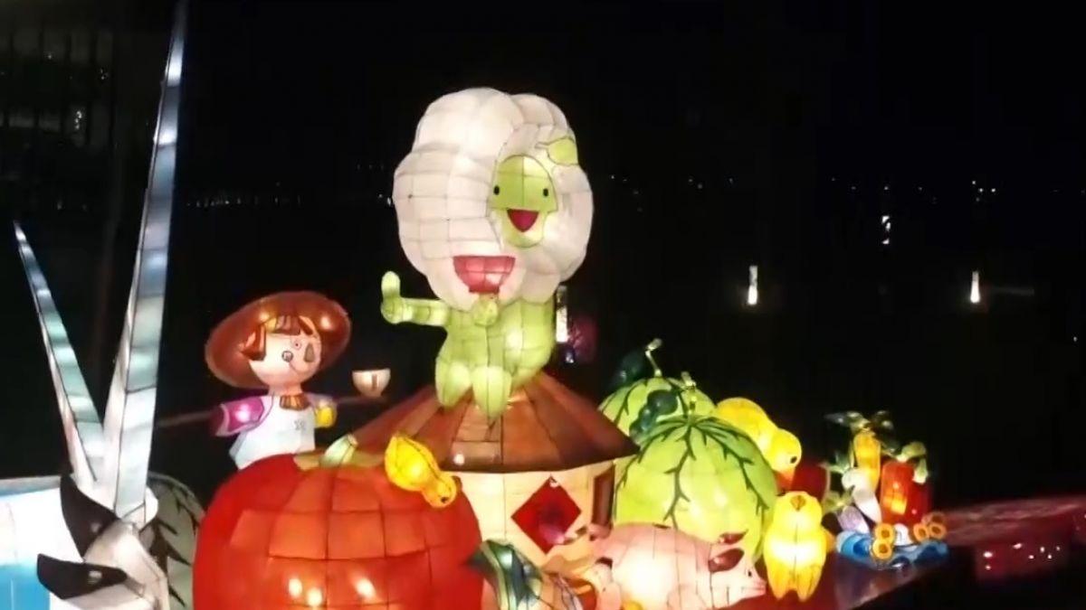 台灣燈會全區試燈 燈藝結合光影驚「豔」