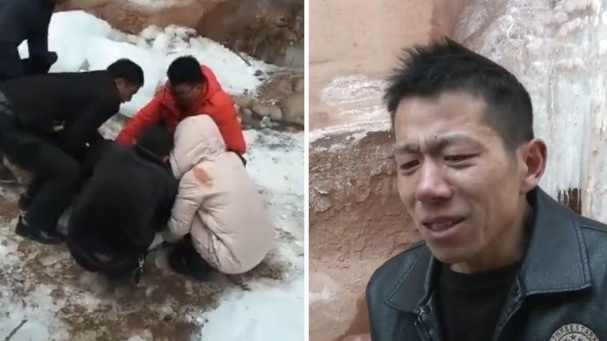 過年才見孩子一面…妻被冰掛砸死 夫淚崩:老婆沒了