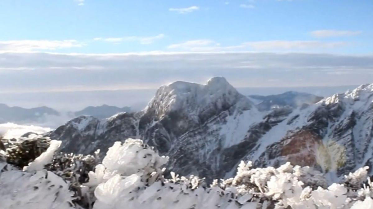 除夕氣溫回暖 嘉義市區能見玉山積雪美景