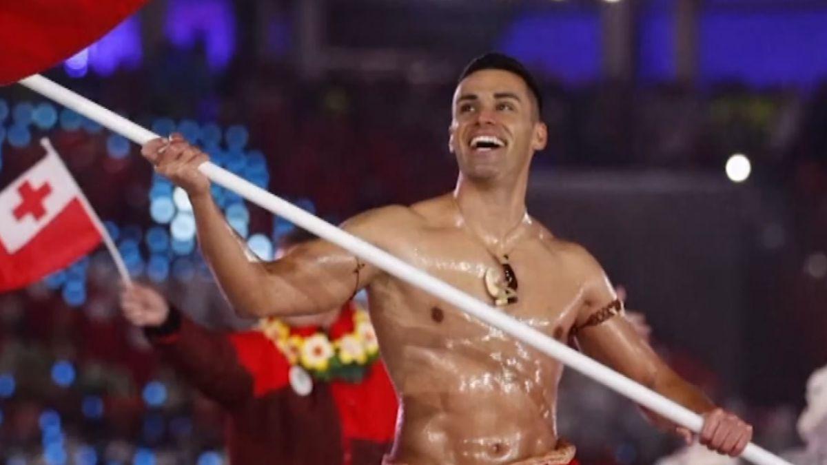 東加掌旗官猛男超勵志 熱帶島國苦練進冬奧