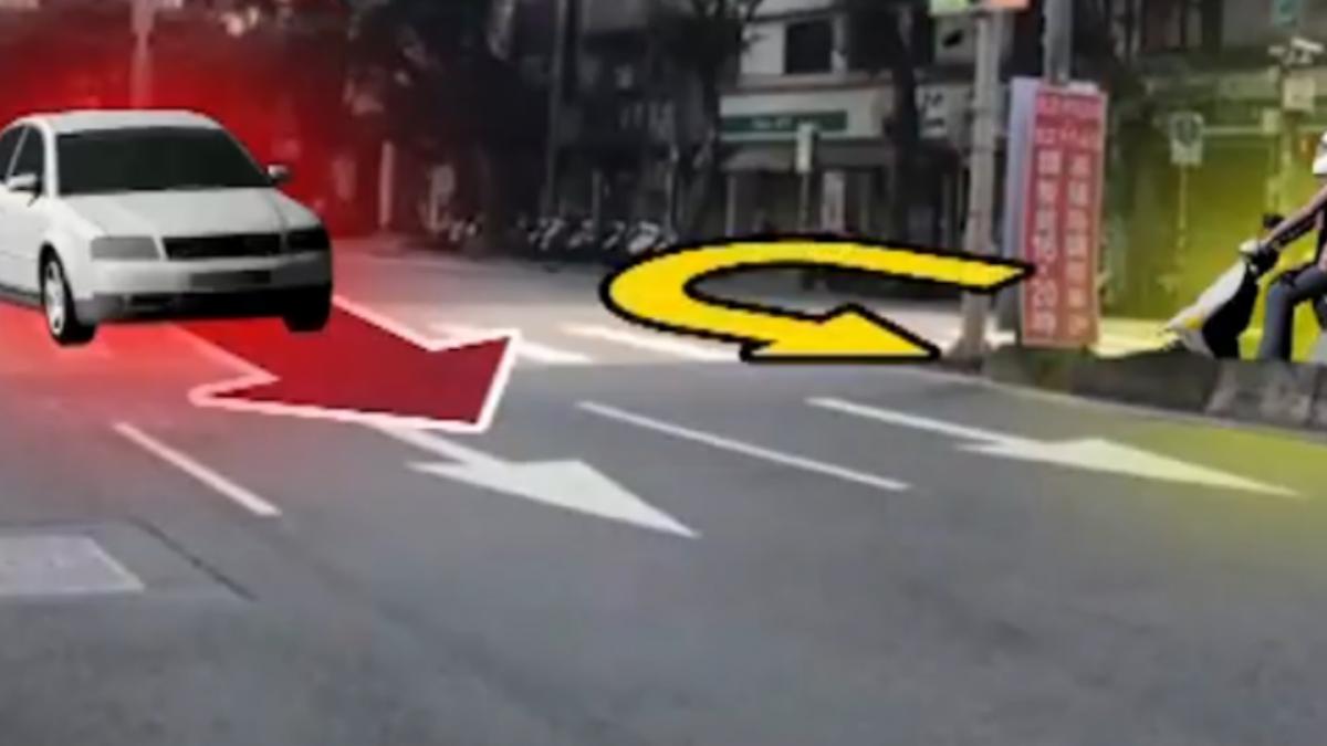 女警追可疑騎士 與車擦撞雷殘受傷
