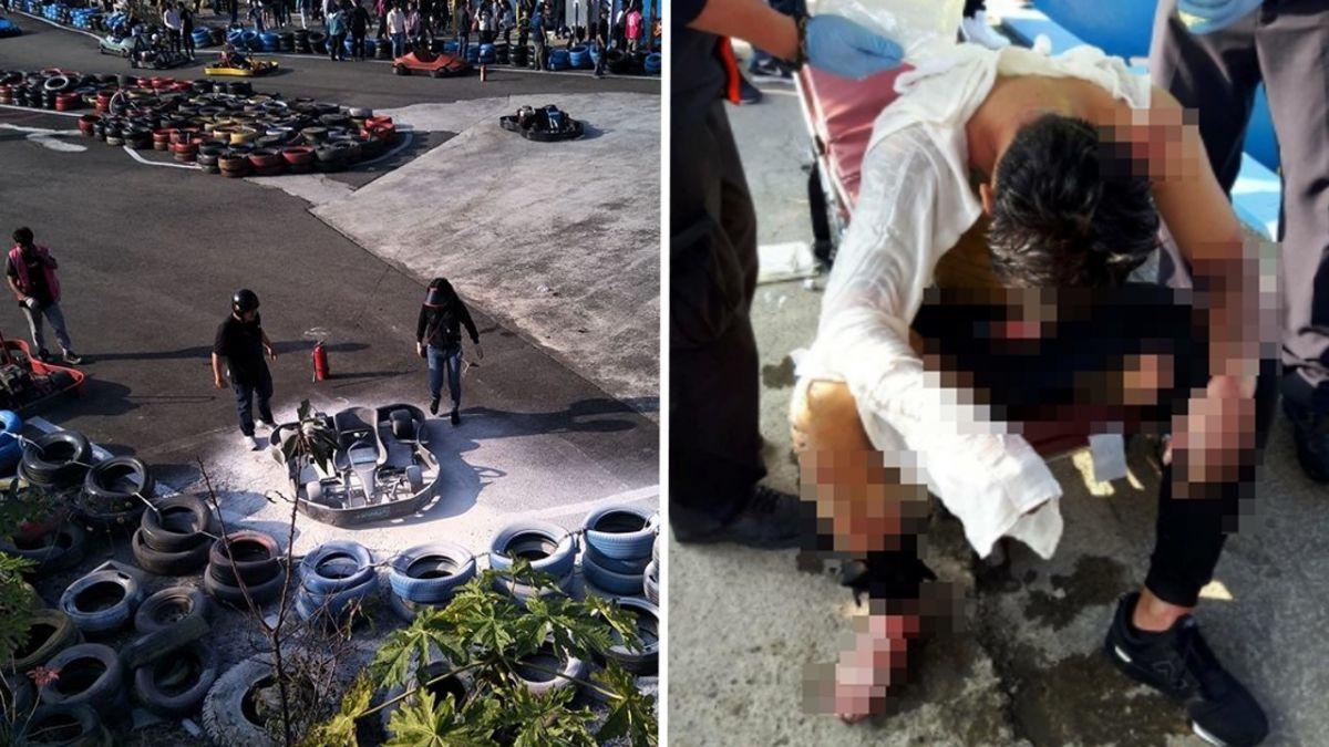 【影片】卡丁車飆一半…21歲男燒成火球!目擊者狂爆:本來沒那麼嚴重