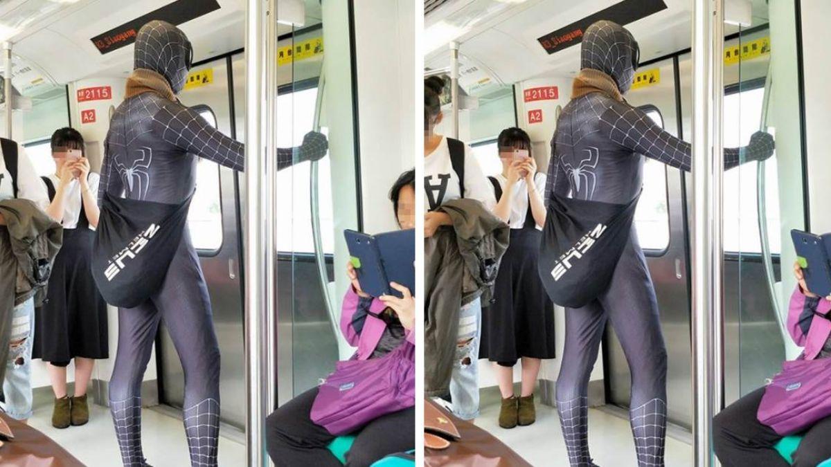 捷運驚見精壯蜘蛛人!網友卻同情下面「遜掉了」