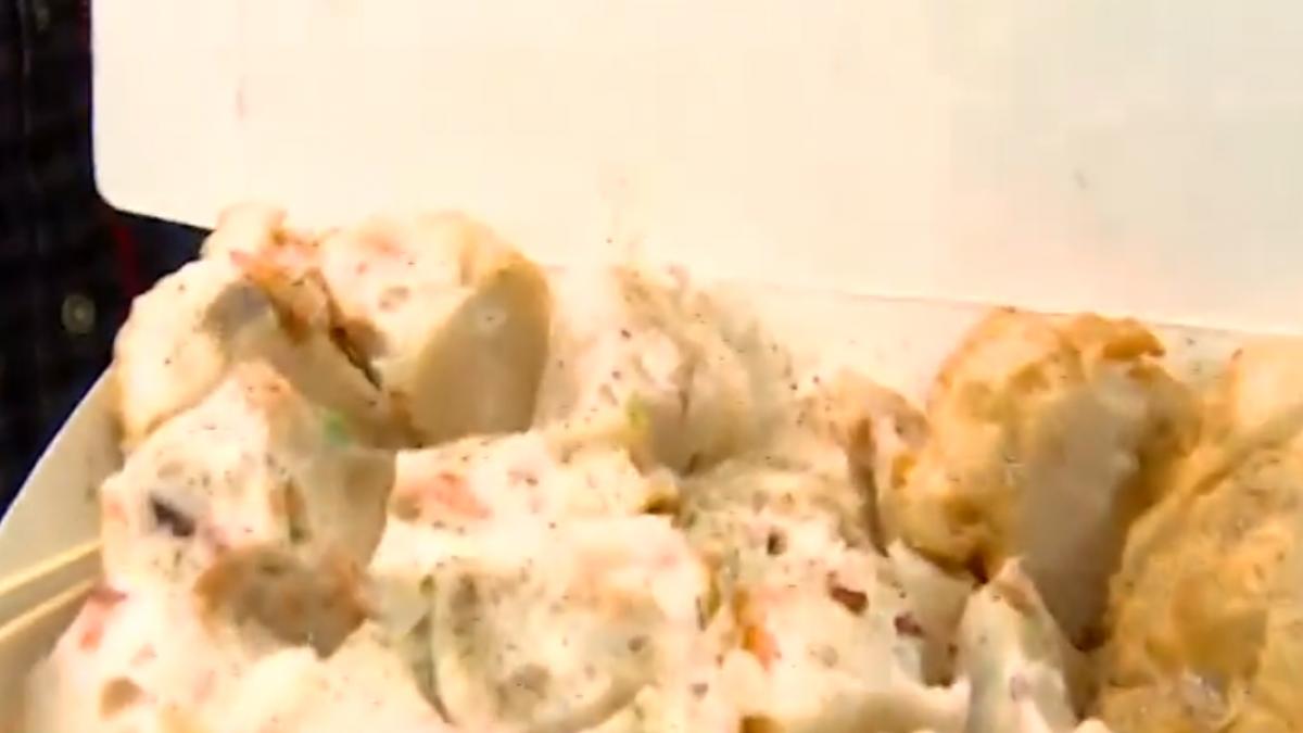 逛年貨大街買海鮮捲 一盒240元民眾批黑店