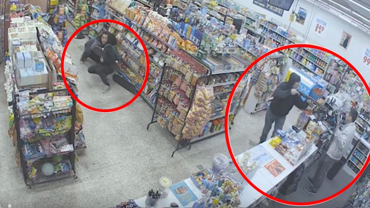 【影片】行竊到一半遇強盜 小偷身分秒轉換!神走位壓制搶匪