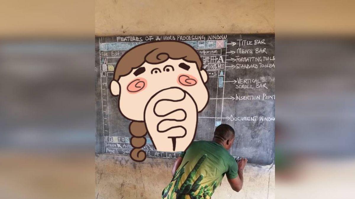 上資訊課沒電腦!非洲最狂老師神複製Word… 網友全跪了