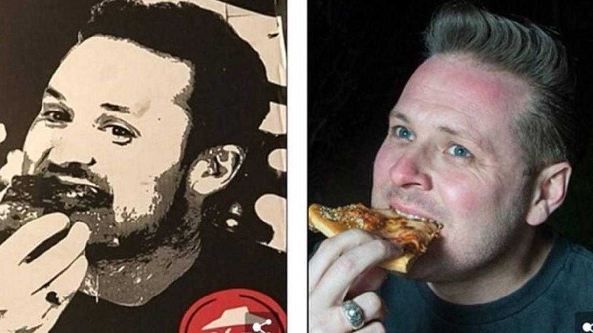 買Pizza外帶回家…盒子上竟「印著自己臉」他超尷尬:連我媽都說是