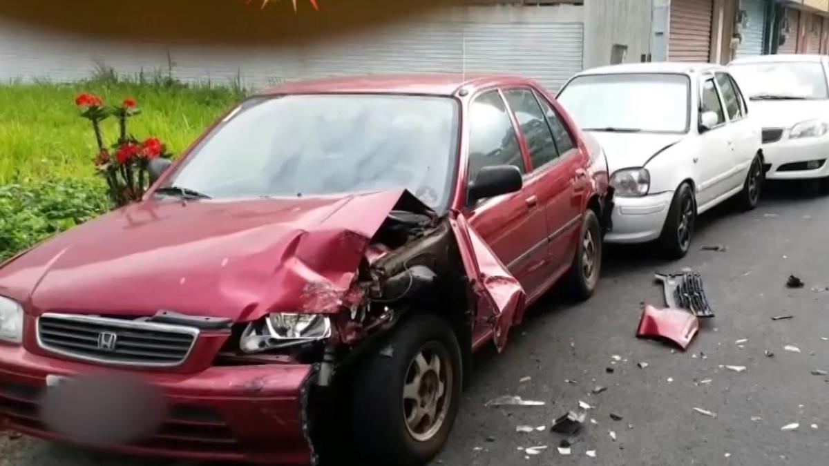 酒駕累犯又酒駕 撞5車撞歪瓦斯管 險釀氣爆