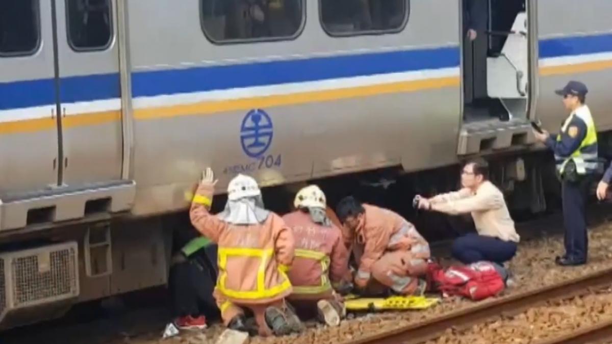 火車正要進站..退伍軍官跳月台躺軌 奇蹟輕傷