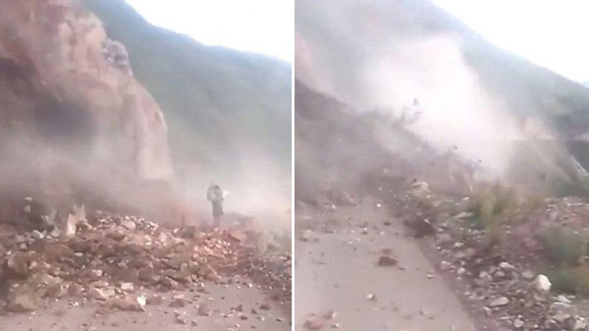 【影片】不聽勸!女子執意衝向土石流 數百村民看她遭活埋慘死