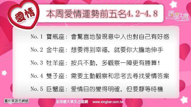 12星座本周愛情吉日吉時(4.2-4.8)