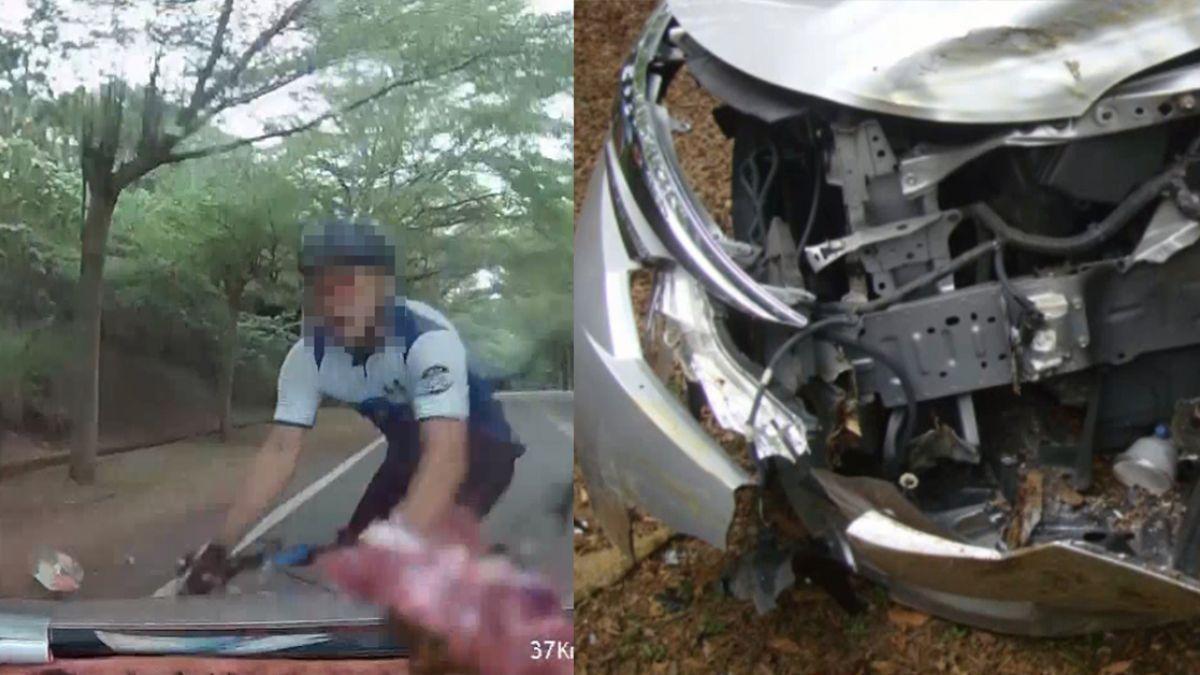 清晨載女伴喝咖啡!7旬翁開車睡著 逆向撞飛單車騎士