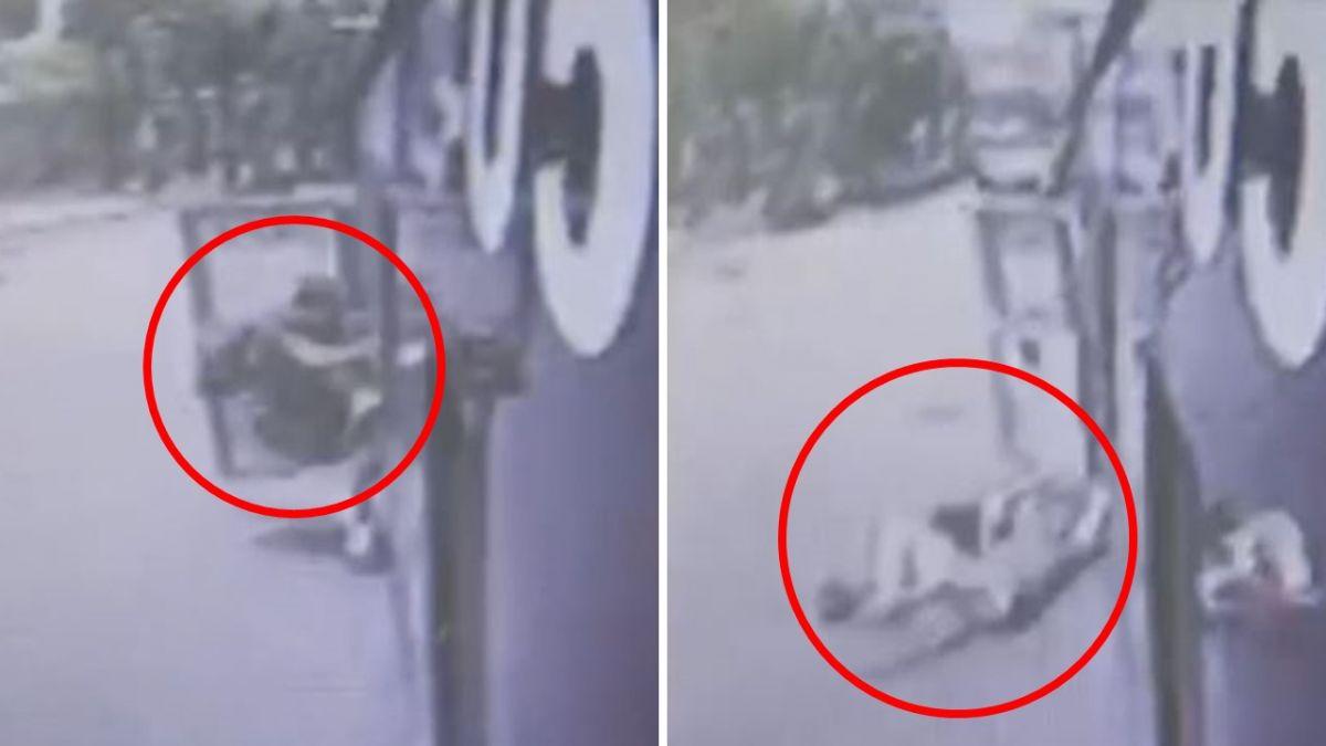 公車安全門疑鬆脫!遇轉彎突開啟 男大生被甩出狠摔