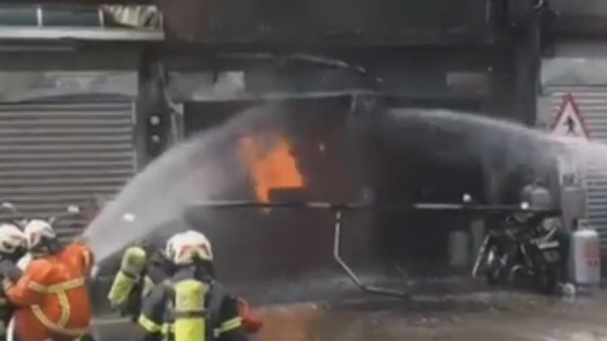 疑瓦斯外洩釀大火 4人燒燙傷幸意識清楚