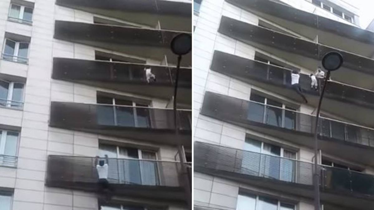 生死一瞬間!4歲童高掛陽台 「現實版蜘蛛人」30秒徒手爬5樓救命