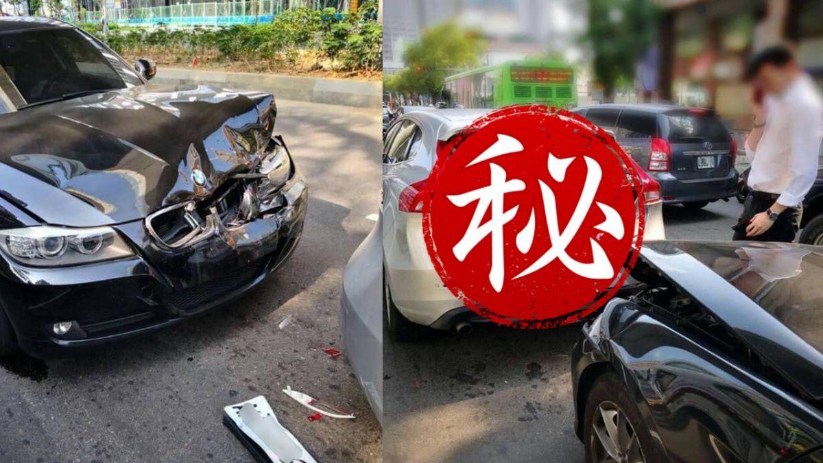 BMW撞瑞典國寶…車頭全毀還掉車牌!網笑:潰縮區做別人家